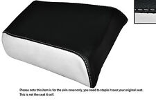 WHITE & BLACK CUSTOM FITS GILERA MX1 125 REAR LEATHER SEAT COVER ONLY