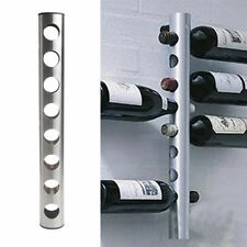 New Stainess Steel 8 Bottle Wine Rack Bar Kitchen Wall Mounted Holder Silver