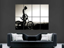 BMX RIDING BIKE ART WALL PICTURE POSTER  GIANT HUGE