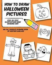 How to Draw Halloween Pictures : Step-By-Step Illustrations Make Drawing Easy...