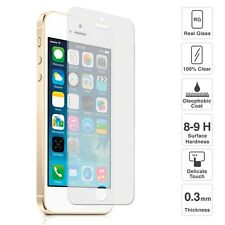 100% Genuine Clear Tempered Glass Screen Protector for  iPhone SE / 5S / 5
