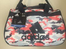 "ADIDAS Diablo Small Duffel Women Camo Grey Gym bag luggage 18.5""x11""x10"""