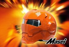 Masei 610 Atomic-Man Orange Bike Motorcycle Roxy NFL Route Mask County Helmet
