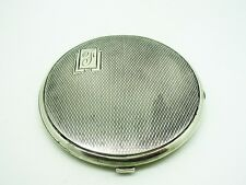 Art deco compact argent, sterling, hallmarked 1936, Beddoes & co