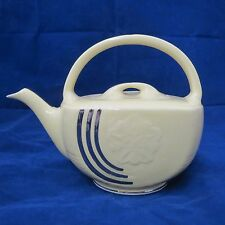 Vintage Hall  Basket 6 cup Teapot in Lemon Yellow with Platinum Trim