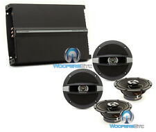 "pkg FOCAL AUDITOR (2) R-165C 6.5"" COAXIAL SPEAKERS + R4280 4-CHANNEL AMPLIFIER"