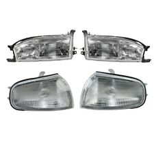 1992 - 1994 TOYOTA CAMRY HEADLIGHT HEAD AND CORNER PARK LIGHT LAMP RIGHT & LEFT