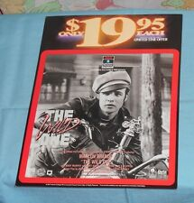 vintage THE WILD ONE video store advertising sign Marlon Brando Lee Marvin