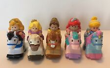 Fisher Price Little People Disney Princess Klip Klop Horses Lot of 5