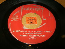 ALBERT WASHINGTON - A WOMAN IS A FUNNY THING - DOGGIN   / LISTEN - SOUL POPCORN