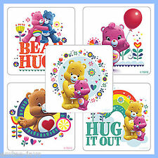 Care Bears Stickers x 5 - Favours - Cheer Bear, Grumpy, Wonderheart, Funshine
