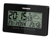 TELEFUNKEN, FUD-50-W (Schwarz) Funk-Wecker mit Wetterlageanzeige digital
