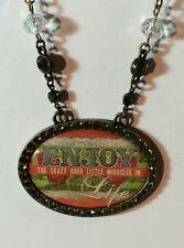 Melody Ross Brave Girl Enjoy Life NECKLACE Country Western NWT