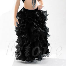 Professional Belly Dance Costume Waves Skirt Dress with slit Skirt 12 Colors