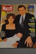 PARIS MATCH N°2016 (15/1/1988) Caroline et Stéfano - B. Buffet - M. Basler