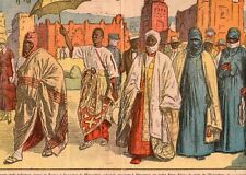 VINCENNES EXPOSITION COLONIALE CHEFS INDIGENES IMAGE 1932 OLD PRINT