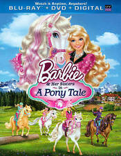 Barbie  Her Sisters in A Pony Tale (Blu-ray Disc, 2013, 2-Disc Set) New