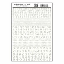 Numbers Dry Transfer Sheet, Roman RR White Dt - Woodland Scenics WMG708
