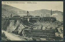 AZ Bisbee ALBERTYPE 1922 IRISH MAG SHAFT of the CALUMET & ARIZONA COPPER MINE