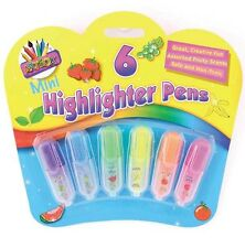 Mini Scented Highlighter Pens Artbox School Stationery Collectable Tallon Kids
