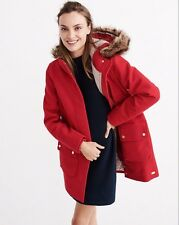 NWT ABERCROMBIE&FITCH LADYS HERITAGE WOOL COLD WEATHER COAT PARKA SIZE M ($280)