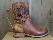 Bed Stu Bridgewater Women's Boots Tan Driftwood Brown Perforated Leather sz 7.5