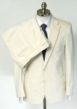 New BRIONI Ivory Corduroy Slim-Fit Cotton Stretch 2Btn Suit 50 40 40R NWT $3995!