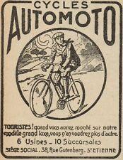 Y8059 Cycles AUTOMOTO - Pubblicità d'epoca - 1920 Old advertising