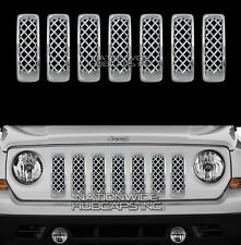 11-15 Jeep PATRIOT CHROME Snap On Grille Overlay Inserts Front Trim Grill Covers