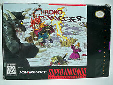K0599803 CHRONO TRIGGER SNES SUPER NINTENDO 100% COMPLETE W/ BOX & INSTRUCTIONS