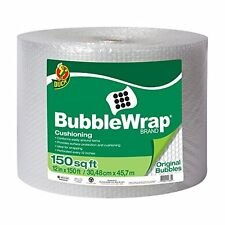 Packing Peanuts Duck Brand Bubble Wrap Original Cushioning, 12-Inches x Single
