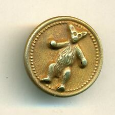 Brass TEDDY BEAR Picture Button