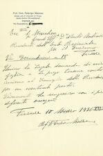 Lettera di Federigo Mazzone al Grande Ufficiale Marchese Niccolò Antinori 1936