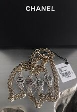 "NWT CHANEL $2350 2016 EYE LOVE InstaCC 42"" Necklace CRYSTAL CC Single Strand 16K"