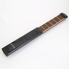 Black Pocket Guitar Practice Gadget 6 Fret Strings Model W/Bag Pick For Beginner