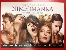 Charlotte Gainsbourg Shia LaBeouf - NYMPHOMANIAC - Polish promo FLYER