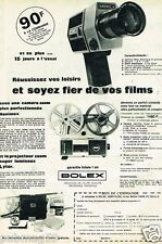 Publicité advertising 1973 Camera et Projecteur Bolex