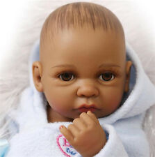 African American Full Silicone Baby Doll Black Body Reborn Baby Alive Dolls