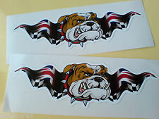 Britannico Bulldog Union Jack Ali AUTO MOTO ADESIVI DECALCOMANIE 2 OFF 100mm