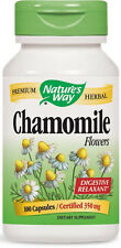 Chamomile Flowers - 100 Capsules - Nature's Way