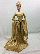 Gold Medieval Gown Set-for YOUr Barbie Model Muse Body