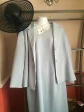 Wedding Outfit, Mother Of Bride By Jacqueverts Size 18 Pale Blue Lovely