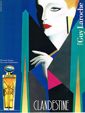 PUBLICITE ADVERTISING 024   1987   GUY LAROCHE   parfum  CLANDESTINE