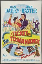 MARILYN MONROE - 1950 - A TICKET TO TOMAHAWK - 12X18 INCH MOVIE POSTER