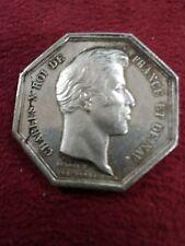 JETON MEDAILLE argent académie royale médecine CHARLES X 1824-1830 DUBOIS N136
