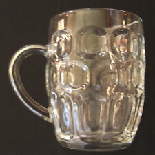 COLLECTORS TRADITIONAL DIMPLE PINT RETRO LAGER BEER MUG STEIN GLASS WITH HANDLE