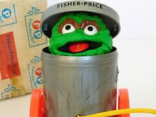 Rare 1977 Sesame Street OSCAR THE GROUCH Fisher Price 177 Pull N Pop CATALOG BOX
