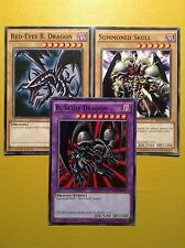 Black Skull Dragon+Red-Eyes+Teschio Convocato YuGiOh Millennium Confezione