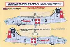 KORA Decals 1/72 SWISS BOEING B-17G FLYING FORTRESS Heavy Bomber