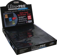 25 ULTRA PRO Premium 18 Pocket Side Load Pages Sheets Protectors Brand New